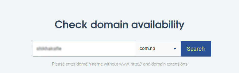 register free .np domain