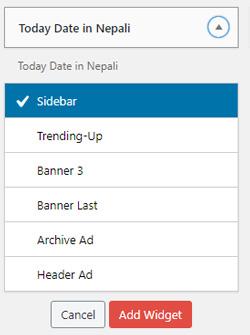 nepali date for WordPress website